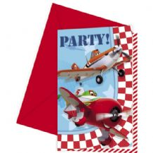 'Disney Planes' Party Invitations 6pcs